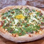 Pizza Nuvola Slow Food   Pesto di Pistacchio e Zeste di Arancio