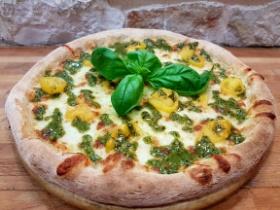 Pizza Nuvola Slow Food | Pomodorini Gialli del Vesuvio e Pesto di Pistacchio di Bronde